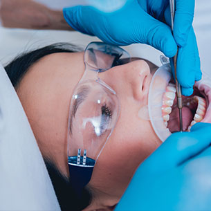 Woman Getting Oral Surgery